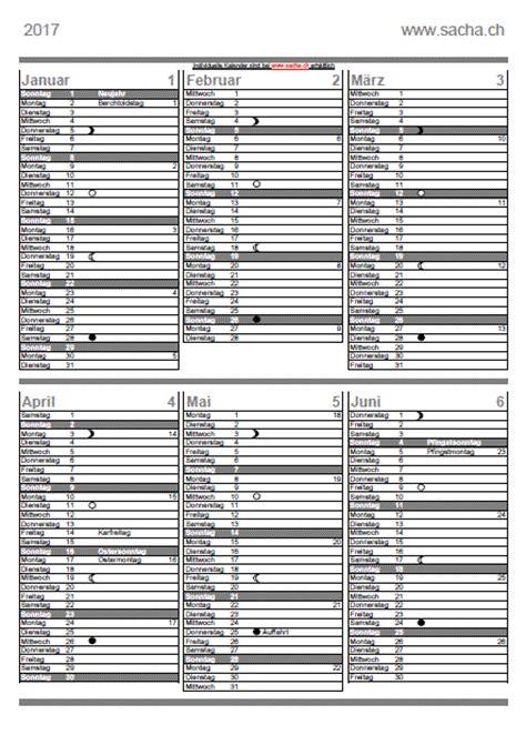 Vierteljahres Kalender 2016 Kalender 2017 Mit Mondphasen Kalender 2017
