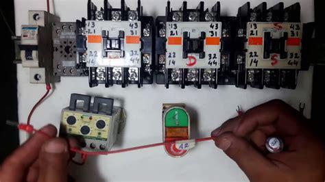star delta starter timer  power  wiring control
