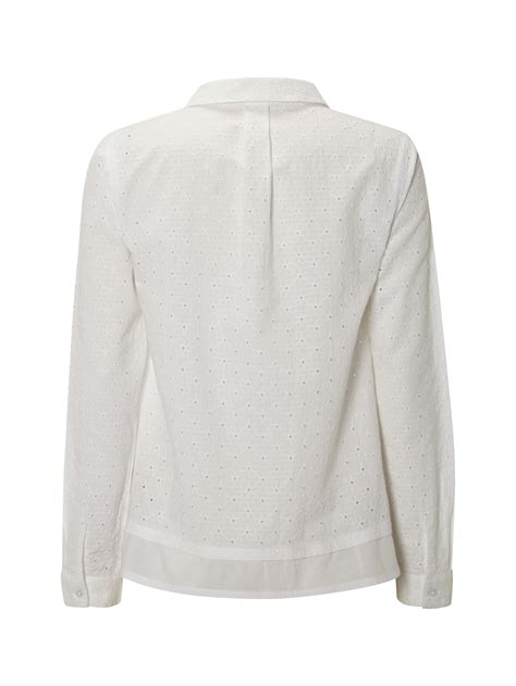 White Shirt Lyst by Lyst White Stuff Broderie Shirt In White