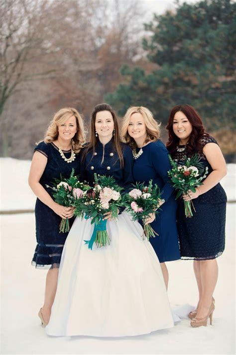 Navy bridesmaids dresses, winter wedding colors, St Louis