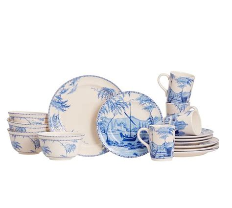boat dinnerware set sophia boat 16 piece dinnerware set pottery barn