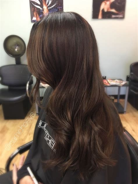 types of brown hair chocolate chestnut warm brown with caramel highlights for