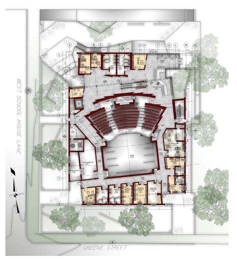 orchestra floor plan germantown community theater melissa nemeth archinect