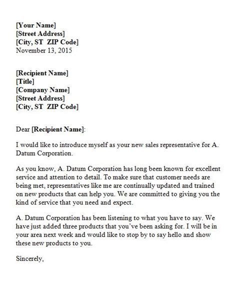 Distribution Company Introduction Letter 40 Letter Of Introduction Templates Exles