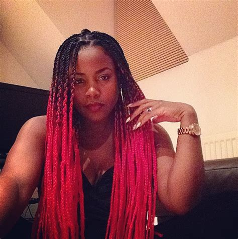 black ombre braids pics catface hair black red ombre jumbo braiding hair