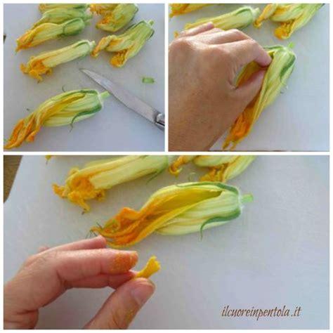 fare pastella per fiori di zucca fiori di zucca ripieni in pastella ricetta il cuore in