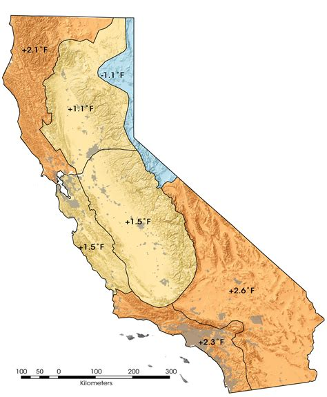 california temperature map january california temperatures on the rise image of the day