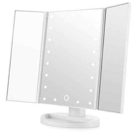Tri Fold Makeup Vanity Mirror by Easehold 21pcs Led Light Vanity Mirror Makeup Tri Fold 180