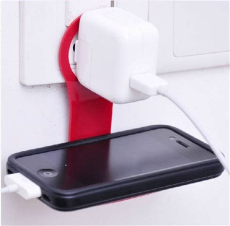 cell phone charging shelf mobile phone charger stand holder monopod hook hangs wall