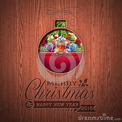 engraved merry christmas  happy  year typographic design  holiday elements  wood