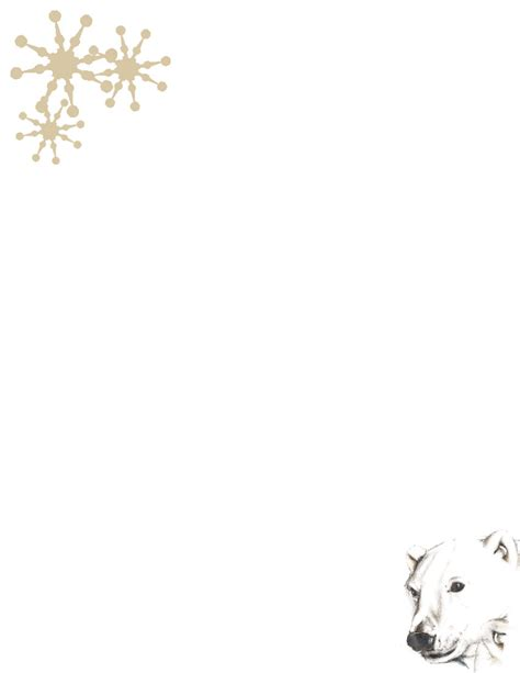 Winter Stationery Theme Downloads Pg 1 Winter Stationery Template