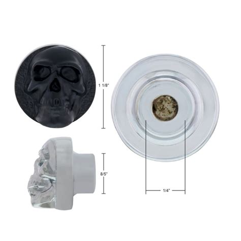 black skull universal dash knob for car truck rod rat