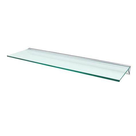 Wallscapes Glacier Opaque Glass Shelf With Silver Bracket Glass Shelves Home Depot