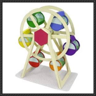 canon papercraft amusement park ferris wheel free