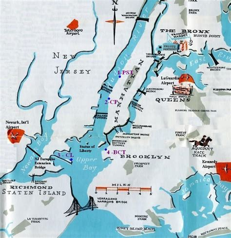 map new york harbor map of jersey and new york portal 2