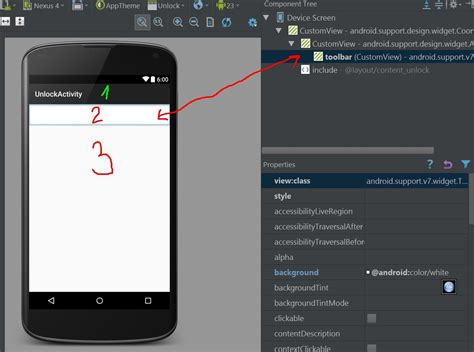 android app layout design tools java why does android studio always show actionbar in