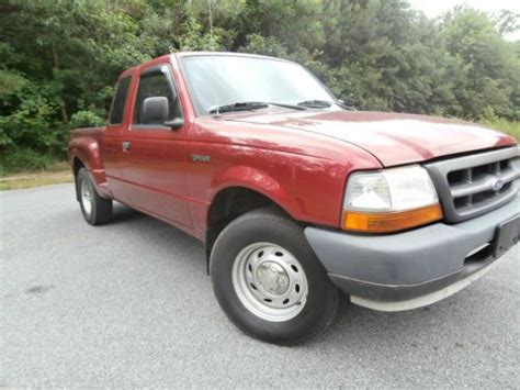 purchase used 2000 ford ranger xl ext cab flareside pickup low miles 5 speed manual no reserve