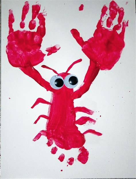 cute lobster pattern get beachy waves today you know you want to hand prints