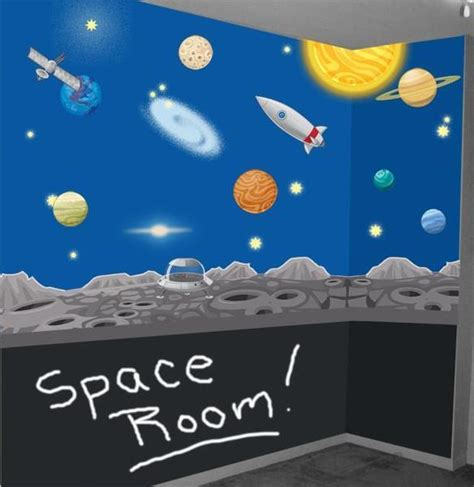 solar system bedroom decor quot for jordan my little space mural for kids room decorating create a mural