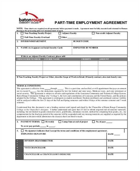 9 employment agreement sles free sles exles