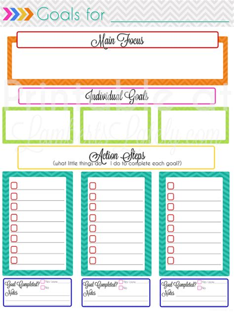 free printable monthly goal sheets ultimate planning notebook add on monthly goal setting