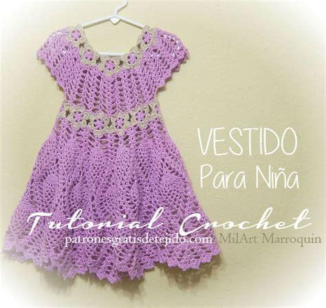 como tejer a crochet vestido para nia 12 youtube vestido para ni 241 a al crochet con motivo de pi 241 as y flores