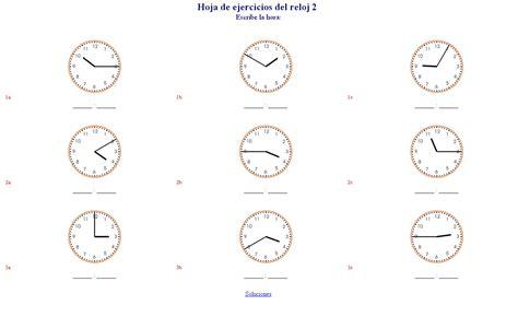 generador de ejercicios para aprender la hora y leer el reloj generador de ejercicios para aprender la hora y el reloj