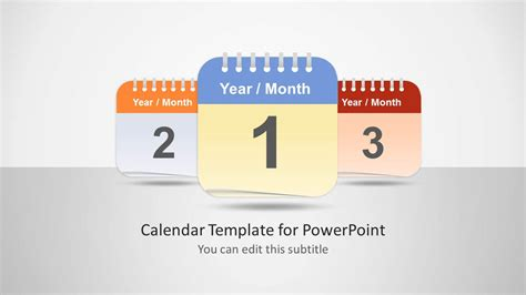 Calendar Slides Calendar Template For Powerpoint Slidemodel