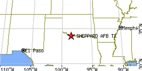 sheppard afb texas map sheppard afb texas tx population data races housing economy