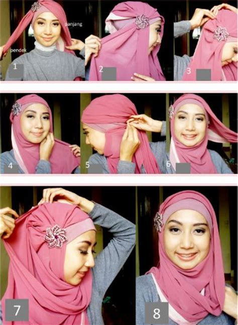 tutorial jilbab pashmina simple modern macam macam tutorial hijab pashmina simple dan stylish