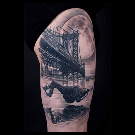 manhattan bridge falling woman best tattoo design ideas