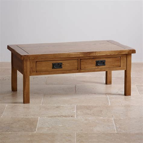 coffee table with drawers original rustic 4 drawer coffee table in solid oak