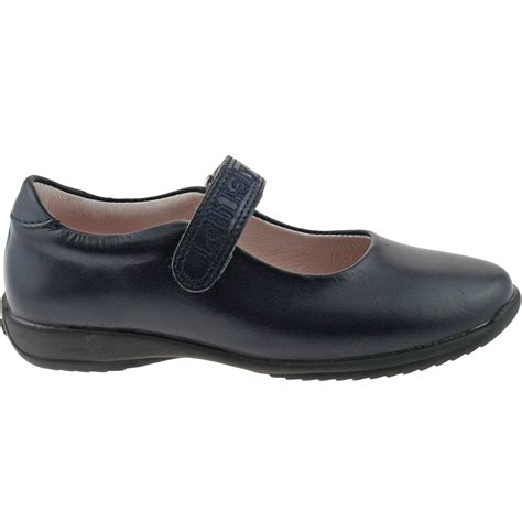 dolly shoes lelli lk8218 ce01 navy blue leather classic school