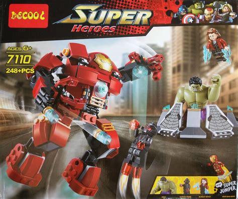 Decool Heroes Iron decool the building blocks sets minifigures heroes etzetra