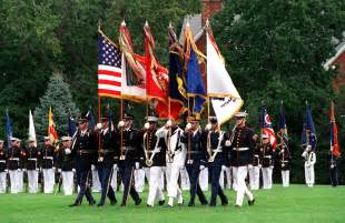 army color guard yes we served army marine corps navy air coast