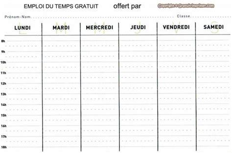 X Calendrier Examen Emploi Du Temps Vierge Gratuit A Imprimer Pour Enfant