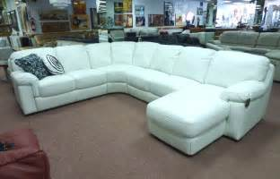 Leather Sectional Sofas For Sale White Leather Sectional For Elegant Room S3net