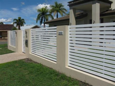 modern wall fence design modern fence designs metal with concrete walls