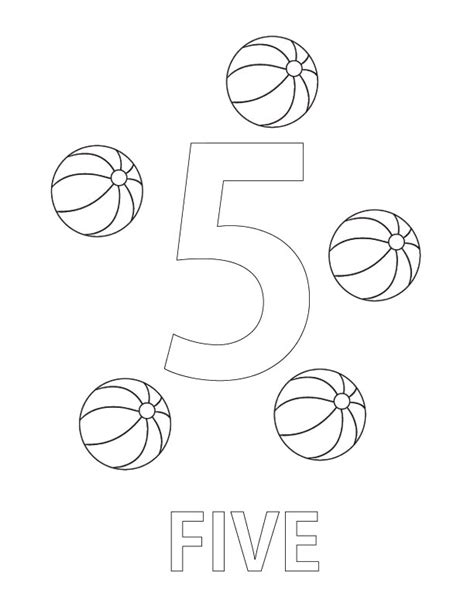 Number 5 Coloring Page Coloring Number Five Worksheet Coloring Pages by Number 5 Coloring Page