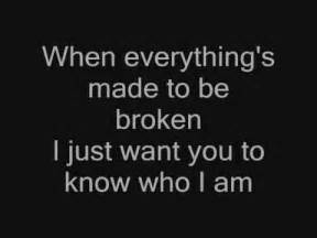Want To Know How i just want you to know who i am iris lyrics youtube
