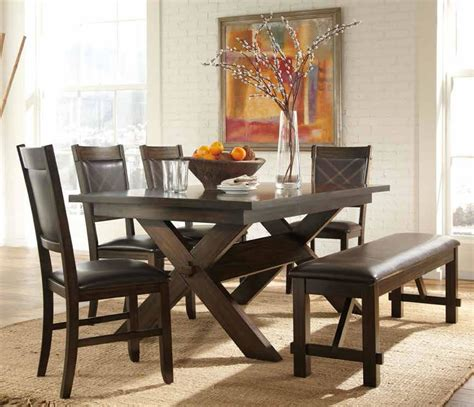casual dining sets with bench kitchen tables and benches dining sets farmhouse dining