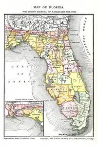 florida railroad map map of florida for poor s manual of railroads 1883