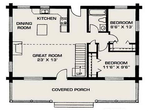 small log house floor plans