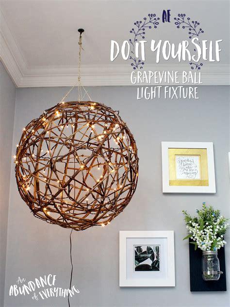 Do It Yourself Grapevine Ball Light Fixture Abundance Of Do It Yourself Lights