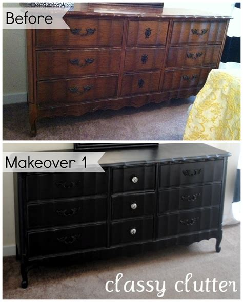 Painting A Dresser Black by Diy Chalk Paint Recipe And A Dresser Makeover Clutter