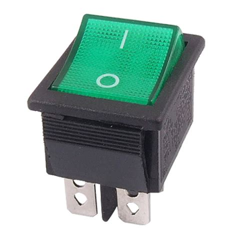 four pin light 5 pcs promotion green light 4 pin dpst on off snap in
