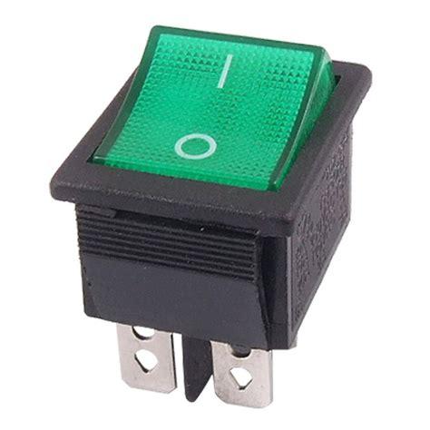 Promo Switch Lu On 3 Pin Rocker Switch Lu 3 Pin Kecil 5 pcs promotion green light 4 pin dpst on snap in boat rocker switch 16a 250v 15a 125v ac