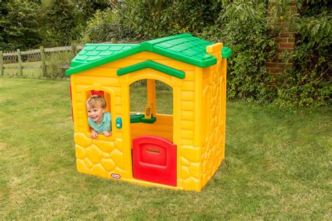 tikes playhouse with brown roof garden playhouses available from gardenplayhouse co uk