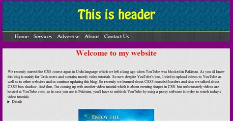 website layout design in html and css website layout in html css website design pinterest