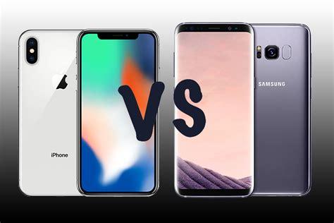 apple x vs samsung s8 iphone x vs samsung galaxy s8 191 qu 233 tel 233 fono es m 225 s